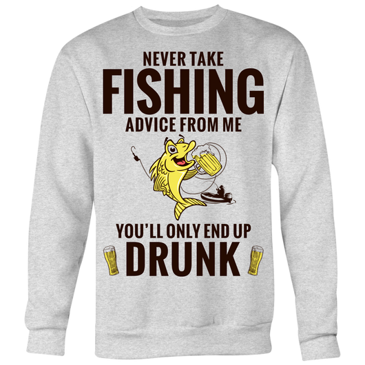 Fishing Advice Crew Neck Sweatshirt