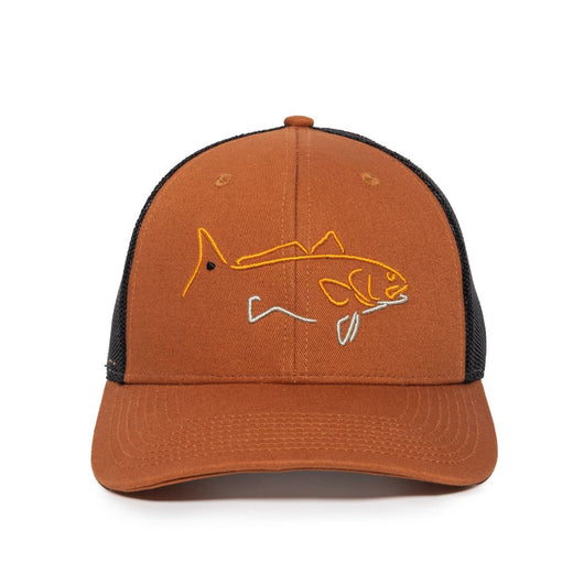 Redfish Orange & Black Cap