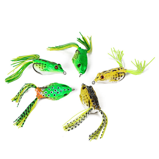 5Pcs Large Frog Topwater Fishing Lure