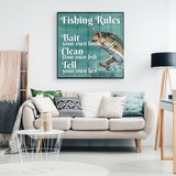 Fishing Rules - Ready to Hang Canvas