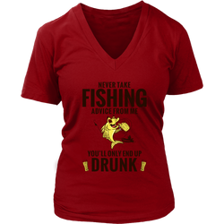 Fishing Advice Women's V-Neck