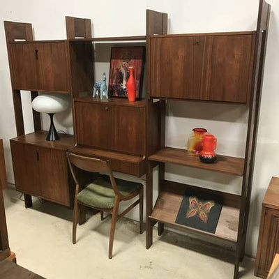 Mid Century Danish Modern Wall Unit - MCM