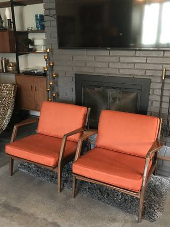Pair of Kofod Larsen for a Selig Lounge Chairs - MCM - Danish Modern