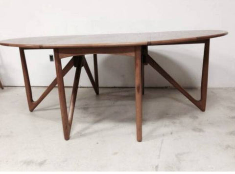 Kurt Ostervig Teak Dining Table, Danish Modern