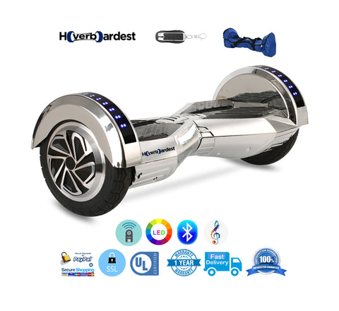 Lamborghini Chrome Silver Smart Hoverboard