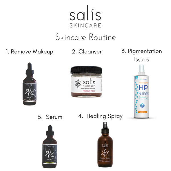 Skincare Routine w/Salís Products