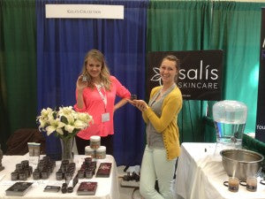 Laura & Lindsey showcasing the scrub!