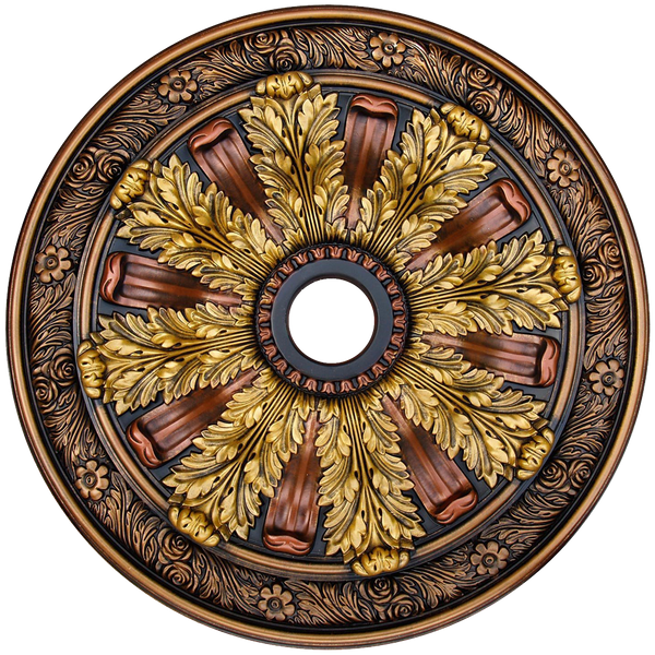 Fine Art Deco 24236 Hand Painted Ceiling Medallion 30 In