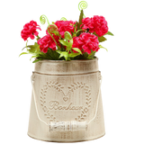 MyGift French Country Vintage Garden Decor Bucket