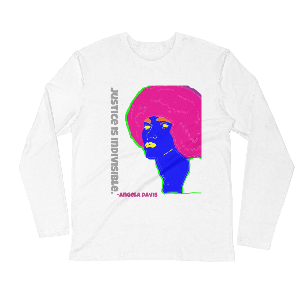 ANGELA D. Long Sleeve Fitted Crew