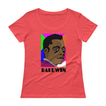 BALDWIN Pixel Art Ladies' Scoopneck T-Shirt