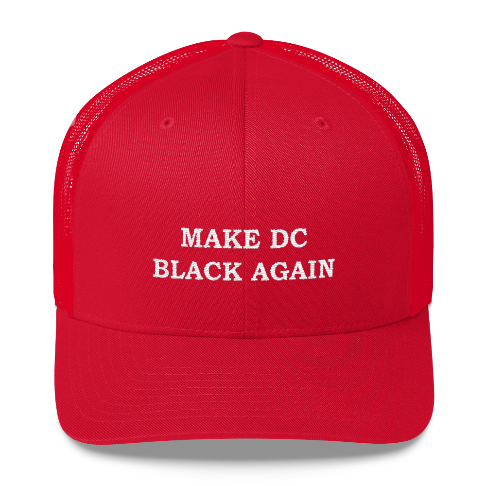 MAKE DC BLACK AGAIN Red Trucker Cap