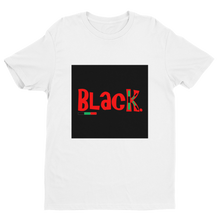 BLACK. Fitted t-shirt
