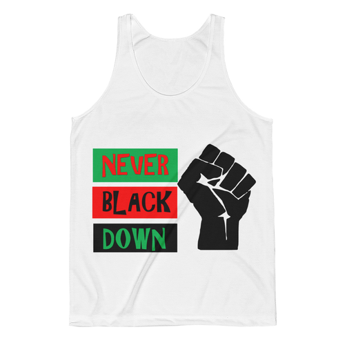 NEVER BLACK DOWN Agender/Unisex Tank (Limited Edition)