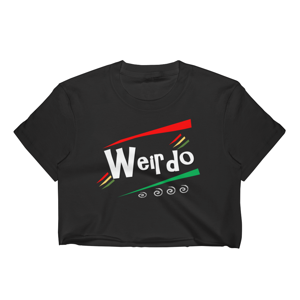 WEIRDO Fitted Crop Top (black)