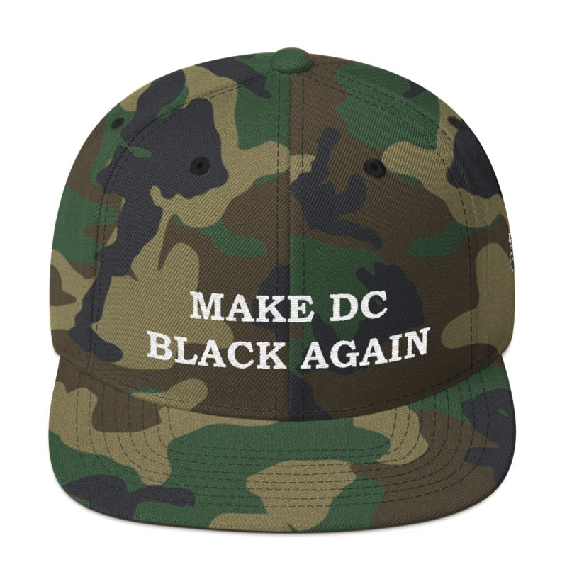 Camo MAKE DC BLACK AGAIN Snapback