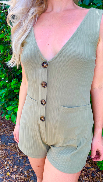 MINKPINK Button Up Playsuit
