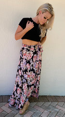 Band of Gypsies Seville Ruffle Wrap Skirt