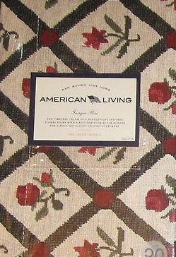 American Living Country Georgia Rose Laura Floral Curtain Valance
