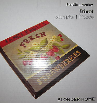 Blonder Home Eastside Market Strawberries Strawberry Fruit Kitchen Trivet
