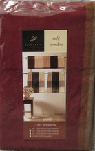 Park B Smith Cafe Block Morocco reds browns tans 24L Tier Set Kitchen Curtains