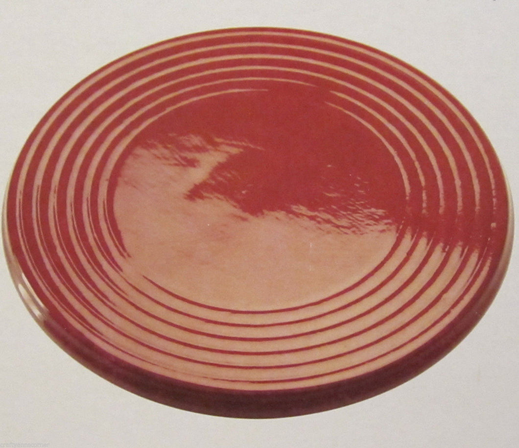 Blonder Home Red Glazed Pottery 8 inch round Trivet