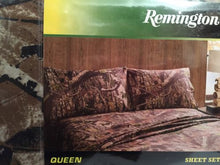 Queen Sheet Set Camo Camouflage Remington