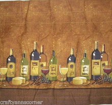 Wines Wine Bottles Tuscany Tiers Valance Kitchen Curtains Set