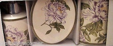 Waverly Floral Notes Thistle Toothbrush Holder Soap Dish Lotion Pump 3 pc set