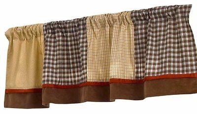 Cocalo Buttons Valance Curtain Patchwork Plaid Check