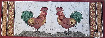 Two Country Roosters Tapestry Large Rug Runner 24x60
