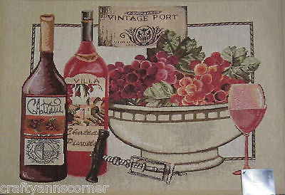 Fine Vintage Port Wine Tuscany Tapestry Kitchen Rug 19x27