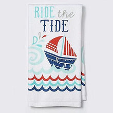 Ritz Ride the Tide kitchen dish towels Set of 2 sailboat