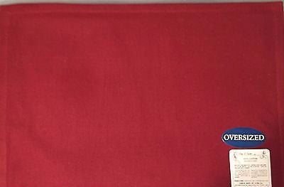 Park B Smith Taylor Oversized Placemats Set of 4 Cinnabar Red