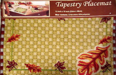 Leaves Leaf Fall Autumn Tapestry Placemats Set of 4