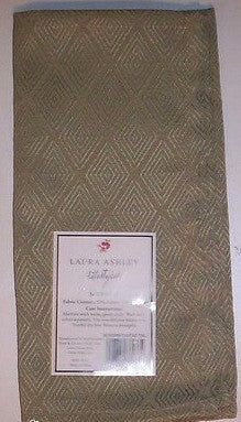 Laura Ashley Sage Green Diamond Twill Fabric Napkins Set of 4