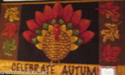 Kitchen Mat Rug Harvest Celebrate Autumn Turkey Rectangle 20 x 33.5