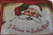 Holiday I Believe In Santa Claus Tapestry Placemat Set of 2