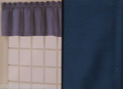 Blue Tailored Kitchen Bath Bedroom Tailored Valance Curtain