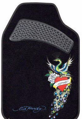 Ed Hardy Peacock Heart Car Truck Front Floor Mats 2 pc set