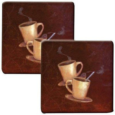 Range Kleen Coffee Java Counter Set of 2 Hot Pads Trivets