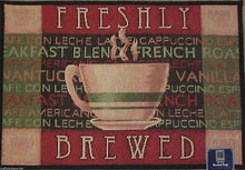 Freshly Brewed Coffee Cappuccino French Roost Tapestry Kitchen Mat Rug 19 x 27