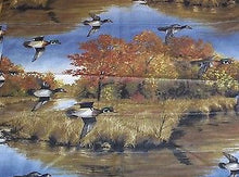 Hautman Brothers Ducks Valance Woodland Cabin Lodge Nature scene