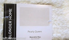Blonder Home Pearly Queen White Plush Bath Rug