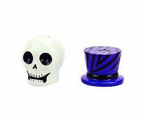 Boston Warehouse Witch Doctor Sugar Skull Salt and Pepper Shaker Set Halloween