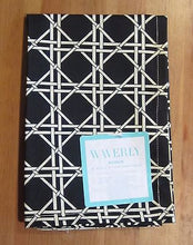 Waverly Garden Lattice Onyx Black Fabric Square Napkins Set of 4