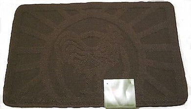 Rooster Kitchen Mat Rug Mocha Brown Sunrise Bi-Level 18 x 28