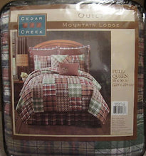 Cedar Creek Mountain Lodge Cabin Full Queen Quilt and 2 Standard Shams