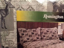 Queen Sheet Set Woodland Cabin Lodge Bear Deer Wilderness Remington Wyndam