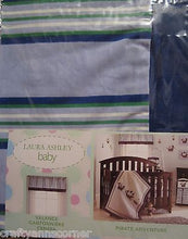 Laura Ashley Pirate Adventure Blue Green White Striped Window Valance